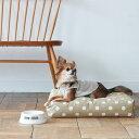 【犬 ベッド】ウォッシャブル スクエア ベッド S サイズ 犬用 ドッグ クッション おしゃれ シンプル 日本製 水玉 冬 洗える