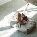 【犬 ベッド】ハードマンズフレンチリネンスクエアベッド S