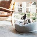 【送料無料】【犬 ベッド】お洒落なラウンド型ベット コットンジャージラウンドベッド dog bed