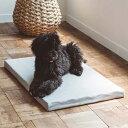 【犬 ベッド】お手入れ簡単 コットンジャージ デュアルウェーブベッド L