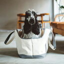 犬 キャリー スクエア トート キャンバス ツートン LL サイズキャリーバッグ メッシュ蓋付きで軽量 ショル� ー ペットキャリー お散歩バッグ 多頭 犬 キャリーバック