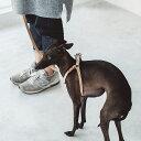 【犬 ハーネス 革】小型犬〜中型犬用 オリジナルヌメリングワンタッチハーネス 40