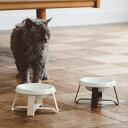 pecolo Food Stand S 陶器浅型 (フードボウルスタンド) 猫 フードボウル