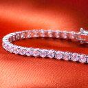 最高級品質 ホワイトゴールド テニスブレスレット レディース 豪華 5カラット | プレゼント ジュエリー ブランド