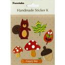 呉竹 Handmade Sticker K Forest Life / sbst300-57 / デコレーション スクラップブッキング 素材 ラッピング ステッカー シール 201