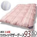東京西川 羽毛布団 ウクライナ マザーグース ダウン93%羽毛布団 K7095 ブルー・ピンク シングルロングサイズ