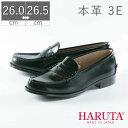 【全国送料無料】 日本製 HARUTA ハルタ 3048 3E 幅広 天然皮革 25 25.5 26 26.5 フットプレイス ギャラリー