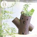 ガーデン雑貨 ブリキ アンティーク 森の切り株の妖精 ダブル ガーデン 雑貨 置物 おしゃれ 庭 飾り