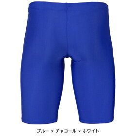 メンズ競泳水着【ハーフスパッツタイプ練習用・ゆったりめのデザインで初めての水着選びにオススメ】