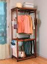 上段にはジャケット・コート・ワンピースなど、下段にはスラックスやスカートと分けて収納でき...