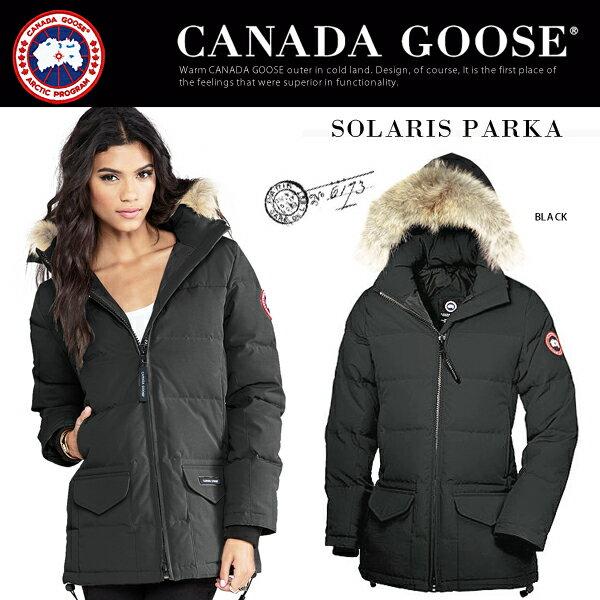 【jg】CANADA GOOSE カナダグース レディース ミリタリージャケット ダウン ファー 《 SOLARIS PARKA 》ダウン のようなカジュアルデザイン♪ 2014 新作 日本レアモデル! ふわふわの ファー がいつものコーデを格上げ♪