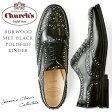 【送料無料】チャーチ Church's レディース オックスフォード エナメル おじ靴 レースアップ スタッズ《 Burwood Met Black Polished Binder 》メタル スタッズ がぎっしり施された モード デザイン ♪ 上質レザー 使用 ♪ 安定感のある 太めヒ