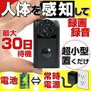 電池式 動体検知 人感センサー 人体感知 防犯カメラ 小型 ...