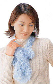 Work! 21-22-30 finger-knit scarf