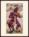 シャガール・「緑色のバイオリン弾き」