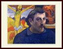 ゴーギャン・「黄色いキリストのある自画像」