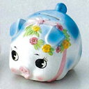 [Piggy Bank] coin money box / small, blue