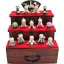 【ローズオニールキューピー】キューピーお雛様3段かざり(三段飾りひな人形/雛人形)【送料無料】