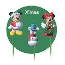 【ディズニーミッキーマウス】フラワーピックセット・ミッキー&ミニー「クリスマス」
