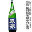 限定 【冷蔵推奨】辰泉酒造 辰泉 特別純米超辛口生酒上澄み詰 一升 箱無