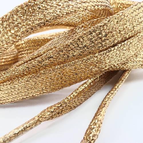 靴ひも 靴紐 キラキラ ラメ 黄金色 薄いゴー...の紹介画像3
