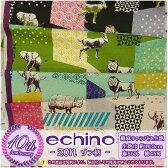 【echino 2015】zon ゾン柄☆綿麻キャンバス生地【動物・エチノ】