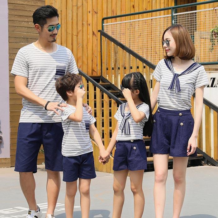 ☆大人セーラー服/家族お揃い半袖Tシャツ+パン...の紹介画像2