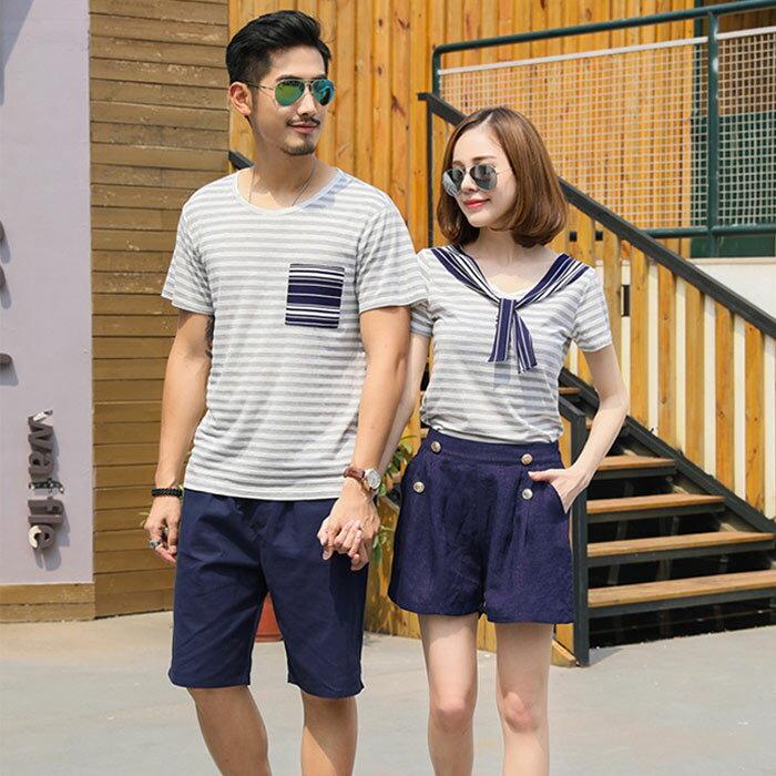 ☆大人セーラー服/家族お揃い半袖Tシャツ+パンツ...の商品画像