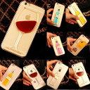 ワイン ビール 流水 クリアケース 液体入り【軽量 透明 動く カバー アイフォン スマートフォン iPhone5 5S iphone6 6s 4.7 6Plus 6Splus 5.5 iPhone4 4s】【コンビニ受取対応商品】