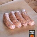 楽天HORIZON FARMS100% 無添加 無塩せき 砂糖不使用 国産 北海道 放牧豚 豚肉使用 高品質 ピリ辛 イタリアンスタイル 生ソーセージ 4本 サルシッチャ ホルモン剤不使用 抗生物質不使用