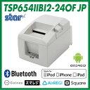 POSレジアプリ対応 ローコスト レシートプリンター TSP650IIシリーズ <スター精密> 【Square(スクウェア) Coiney(コイニー) スマレジ Airレジ対応】 Bluetooth接続 ホワイト TSP654IIBI2-24OF JP(ACアダプター別売り)