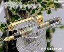 【S114】【SAILOR/セーラー】プロフェッショナルギアスリム金 プロギア万年筆 クリアースケルトンモデル14金 ゴールド×透明モデル …