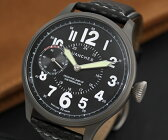 【1516】【WANCHER/ワンチャー】【腕時計】ドイツ フリーガー オフィサー 黒文字盤 パイロット ミリタリーウオッチ軍用機械式手巻き 少量生産モデル【即納】【送料無料】【Wancher】