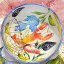 イタリア/地中海サラダボウル/魚介・シーフード柄