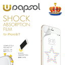 Wrapsol women (ラプソル ウーマン) ULTRA 衝撃吸収フィルム iPhone8 iPhone7 前面 液晶保護シート WPIP7NFT-GL