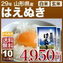 山形県産 はえぬき 米 10kg(5kg×2)送料無料 29...