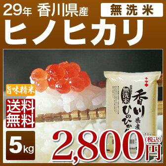 [無洗米]香川県産 ヒノヒカリ 5kg 送料無料 29年産内祝いやお返し ギフトに熨斗(のし)名入れ 可