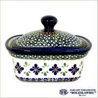 [Boleslawiec/ボレスワヴィエツ陶器]バターディッシュ(Sサイズ)-du60