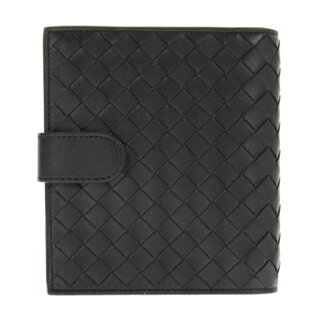 Bottega Veneta [BOTTEGA VENETA two bi-fold wallet (wallet) (pennies with) 114073 V001N1000 lambskin (black) brand 532P16Jul16