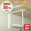 アイアンブラケット Lサイズ (つや消し白) ウォールシェルフ 職人手作り!完全日本製 棚受け 2段仕様 金具 DIY 棚 北欧 家具