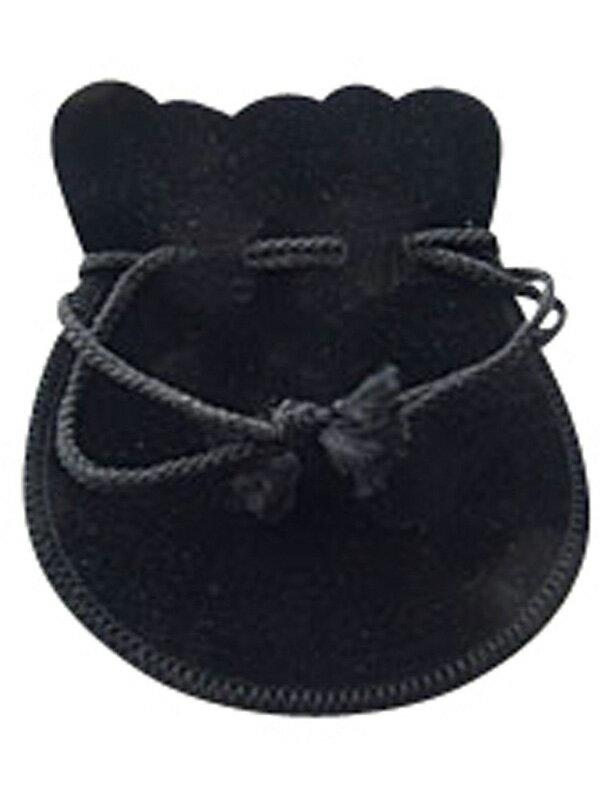 ジュエリーポーチ ブラック 黒 スエード調 巾着...の商品画像