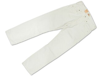 Levi's LEVI's 501-0651 button fly straight jeans optic white ( after dyed USA line OPTIC WHITE )