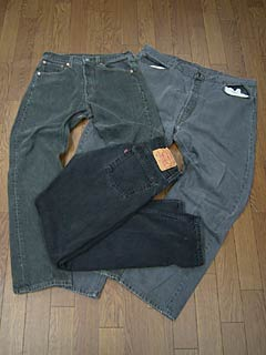 Levi's 501 LEVI's USED black waist 67-76 cm (levis denim jeans blue jeans distressed pants)