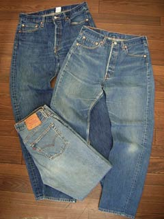 Levi's LEVI's USED 501 West 72-76 cm (distressed denim jeans jeans pants)