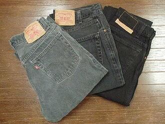 Levi's 505 LEVI's USED black (distressed denim jeans jeans pants)