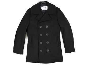 Shot SCHOTT 740 wool double Picot black MADE IN USA ( military coat Wool Double P-Coat P )