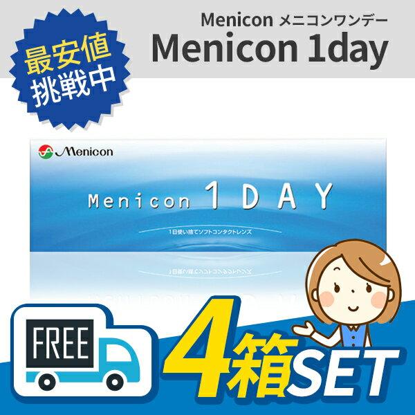 【送料無料】メニコンワンデー 4箱(1箱30枚入)menicon menikon メニコン ワンデー【1day】