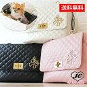送料無料【WOOFLINK】ウーフリンク CHIC BAG 6(キャリーバッグ/リボン/キルティング/自立型/犬用/ボックス型)
