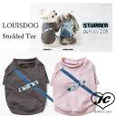 【DM便送料無料】【LOUISDOG】ルイスドッグ Studded Tee(デニム/スタッズ/クラッシュ/ダメージドッグウエア/犬服/コットン)