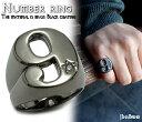 送料無料 指輪 メンズ レディースブラックルテニウムコーティ...